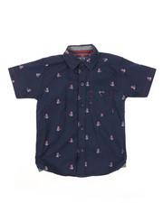 Sizes 4-7x - Kids - Tennis Teddy Bear All Over Print Woven Shirt (4-7)-2380304