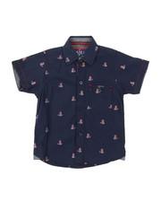 Arcade Styles - Tennis Teddy Bear All Over Print Woven Shirt (2T-4T)-2380295