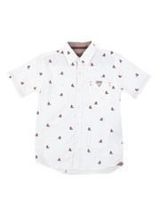 Sizes 2T-4T - Toddler - Tennis Teddy Bear All Over Print Woven Shirt (2T-4T)-2380291
