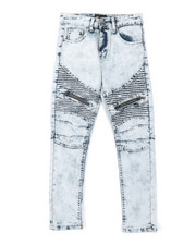 Bottoms - Moto Jeans W/ Zipper Detail (8-20)-2379917