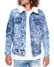 Outerwear - DENIM JACKET WITH SHERPA COLLAR  CARNIVAL BLUE RINSE-2380742