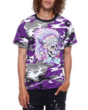 Hard Turn - PURPLE CAMO HEADRESS TEE-2380526