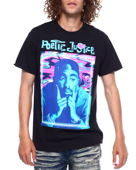 C-LIFE GROUP LTD - TRIPPY CAMO TUPAC POETIC JUSTICE TEE