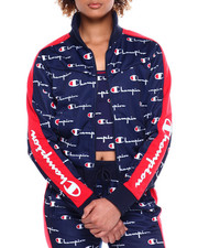 Women - Tricot Track Jacket-All Over Print W/Champion Taping-2381196