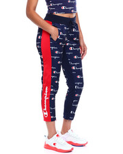 Women - Tricot Slim Track Pant-All Over Print W/Champion Taping-2381206