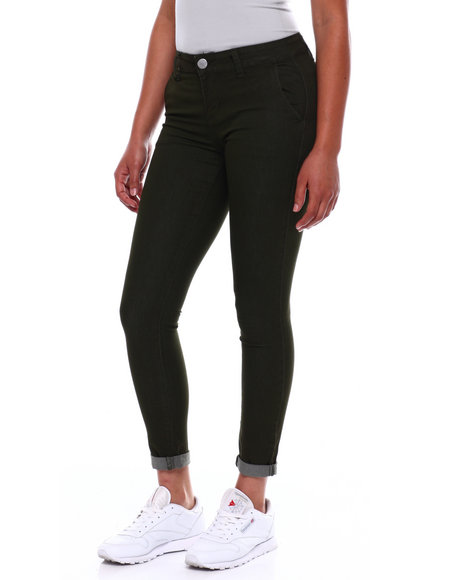 Fashion Lab - Roll Cuff Trouser Pkt Skinny