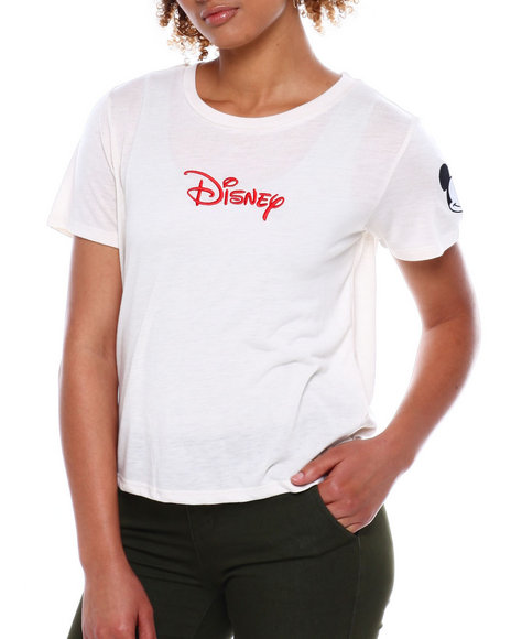 Graphix Gallery - Disney Mickey Drapery Embroidered Tee