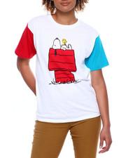 Graphix Gallery - Peanuts Color Block Pigment Wash Tee-2381152