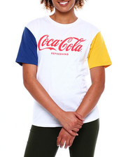 Graphix Gallery - Coca Cola Color Block Pigment Wash Tee-2380941