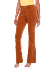 Flare - 2 Pkt Front Flare Leg Corduroy Pant-2380970