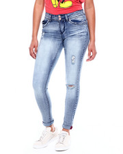 Jeans - Betta Butt 2 Bttn Roll Cuff Distressed Jean-2380983