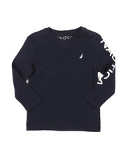 Nautica - Long Sleeve V-Neck Graphic Tee (2T-4T)-2381693