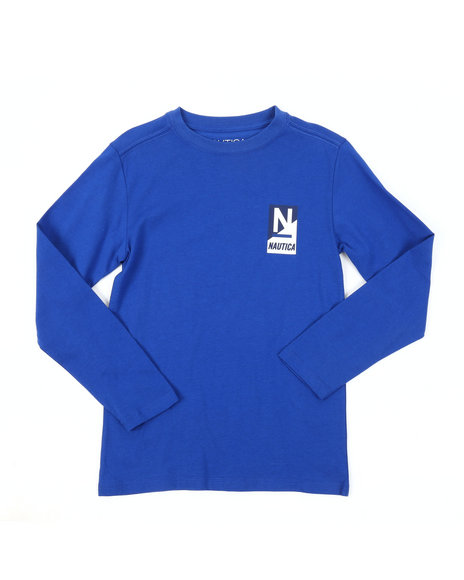 Nautica - Long Sleeve Crew Neck Tee (8-20)