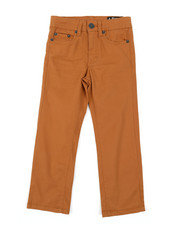 Buffalo - 5 Pocket Stretch Twill Pants W/ 3D Whiskers (4-7)-2382001