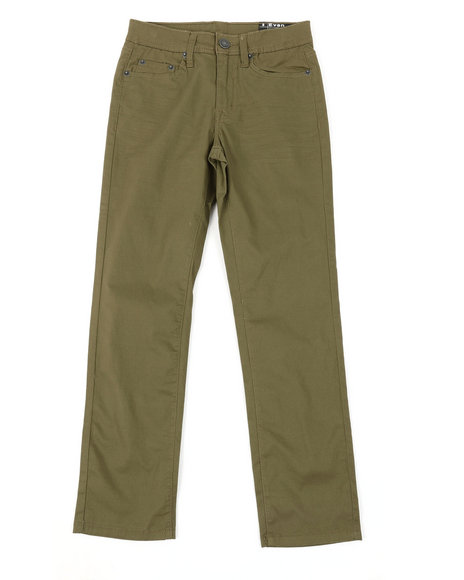 Buffalo - 5 Pkt Stretch Twill Pants W/3D Whiskers (8-16)