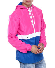 Outerwear - HOT PINK COLORBLOCK WINDBREAKER-2382478