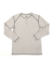 Arcade Styles - Ridiculously Soft Long Sleeve Henley Shirt (8-20)-2382098