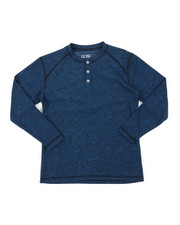 Arcade Styles - Ridiculously Soft Long Sleeve Henley Shirt (8-20)-2382088