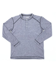 Arcade Styles - Ridiculously Soft Long Sleeve Henley Shirt (8-20)-2382093