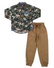 Sets - All Over Print Woven & Twill Jogger Set (4-7)-2382278