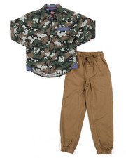 Sets - All Over Print Woven & Twill Jogger Set (8-20)-2382283