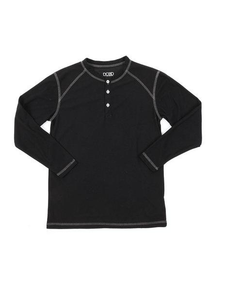 Arcade Styles - Ridiculously Soft Long Sleeve Henley Shirt (8-20)