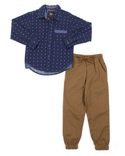 Arcade Styles - All Over Print Woven & Twill Jogger Set (8-20)-2381818