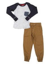 Sets - 2 Piece Long Sleeve Shirt & Jogger Pants Set (8-18)-2383856