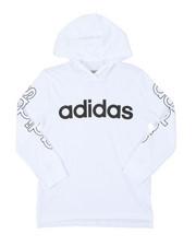 Adidas - Hooded Linear Tee (8-20)-2383441