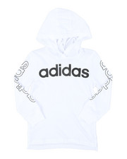 Adidas - Hooded Linear Tee (4-7)-2383436