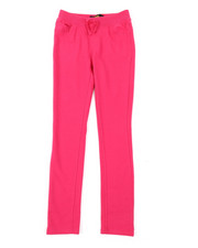 Girls - French Terry Knit Waist Skinny Pants (7-14)-2383925
