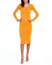 Dresses - L/S Rib Double Vnk Dress-2383989