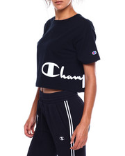 Women - Heritage Cropped Tee-Wrap Around Script-2383690