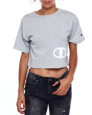 Womens-Fall - Heritage Cropped Tee-Wrap Around Script-2383749