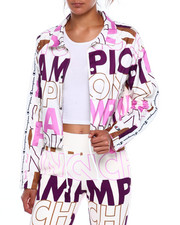 Champion - Cropped Coaches Jacket-All Over Print-2383575