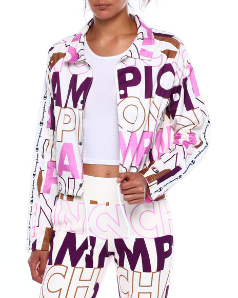 Champion - Cropped Coaches Jacket-All Over Print