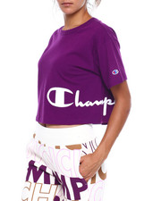 Champion - Heritage Cropped Tee-Wrap Around Script-2383309