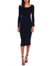Dresses - L/S Rib Double Vnk Dress-2383940