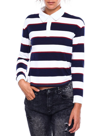 Almost Famous - Rugby Striped Top