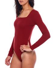 Bodysuits - L/S Rib Square NK Thong Bodysuit-2383965