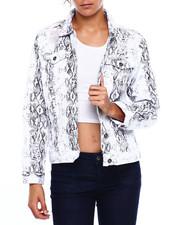 Fashion Lab - Distressed Snake Denim Jacket-2381335