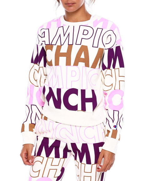 Champion - Reverse Weave Crew -All Over Print Pullover