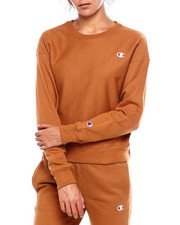 "Womens-Fall - Reverse Weave Crew Left Chest Small ""C""-2383446"