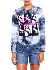 Graphix Gallery - Selena Multi Face Tie Dye L/S Tee-2383729