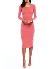 Dresses - L/S Rib Double Vnk Dress-2383997