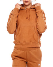 "Womens-Fall - Reverse Weave Pullover Hood-Left Chest Small ""C""-2383496"
