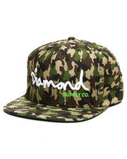 Diamond Supply Co - OG Logo Script Camo Snapback Hat-2383339