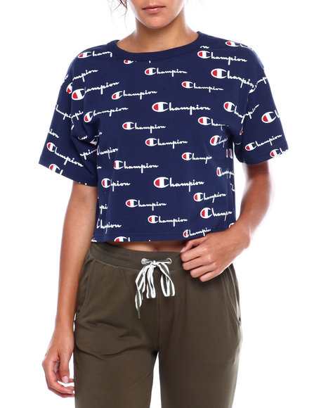 Champion - Heritage Cropped Tee-All Over Print