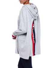 Women - Yarn Dye Rib Full Zip Poncho-2383648