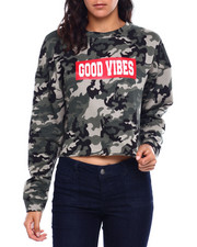 Fashion Lab - Good Vibes Camo L/S Crop-2384015